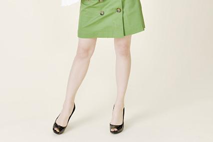 オーディション向きのボックススカート
